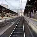 写真: 江ノ電江ノ島駅(藤沢市)鎌倉方面