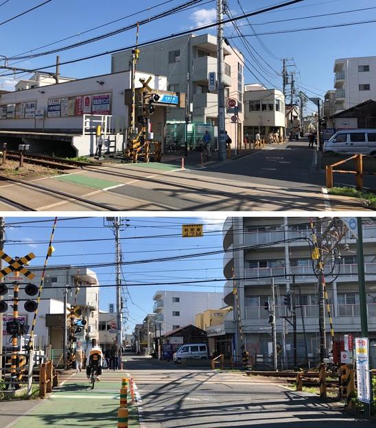 小田急江ノ島線 本鵠沼駅(藤沢市)踏切・東口方向