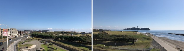 鵠沼橋交差点歩道橋(藤沢市)より東~東南