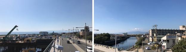 鵠沼橋交差点歩道橋(藤沢市)より西~西北