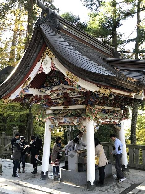 三峯神社(秩父市)手水舎