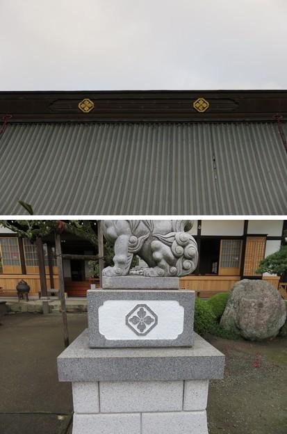 蔵林寺(秦野市)「隅切り角に花角」
