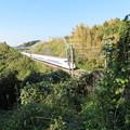 写真: 興国寺城(沼津市)東海道新幹線