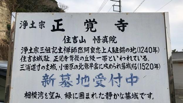 住吉城(逗子市)正覚寺