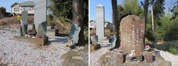 大蔵館南東土塁(嵐山町)馬頭観音碑・板碑