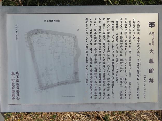大蔵館跡南東(嵐山町)