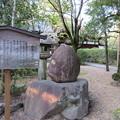 Photos: 応仁の乱勃発地(御靈神社(上御霊神社)。上京区)芭蕉句碑