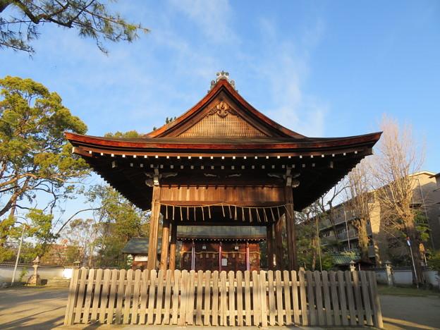 淀城(伏見区淀本町)與杼神社拝殿