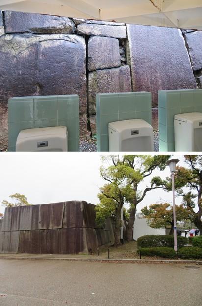 大坂城(大阪府大阪市中央区)桜門外側石垣