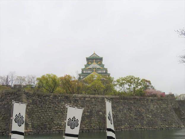 大坂城(大阪府大阪市中央区)西仕切門跡脇より