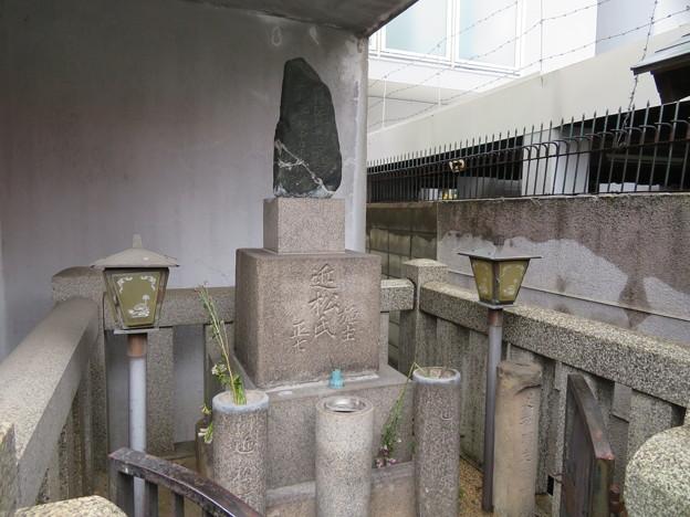 近松門左衛門墓(大阪市中央区)