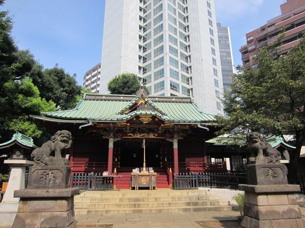Photos: 金王八幡宮拝殿/渋谷城(渋谷区渋谷)
