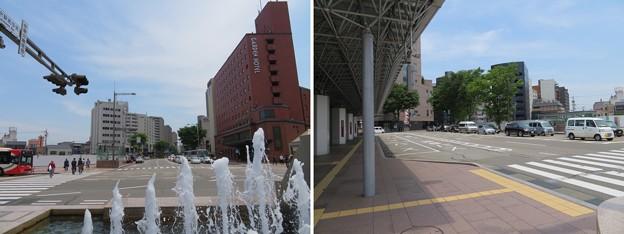 金沢駅前中央交差点(石川県)