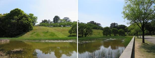 金沢城(石川県営 金沢城公園)新丸・二の丸間水堀跡