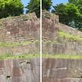 金沢城(石川県営 金沢城公園)二の丸隅櫓石垣