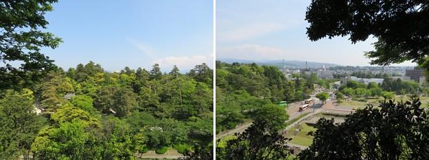 金沢城(石川県営 金沢城公園)東丸辰巳櫓より