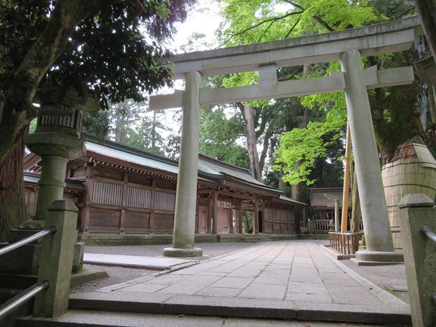 白山比咩神社(白山市)三の鳥居・神門