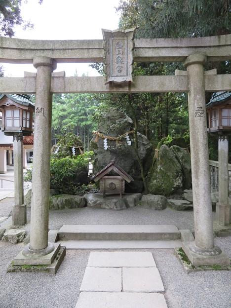 白山比咩神社(白山市)奥宮遥拝所