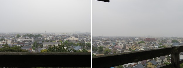 丸岡城天守(福井県坂井市)南・南西