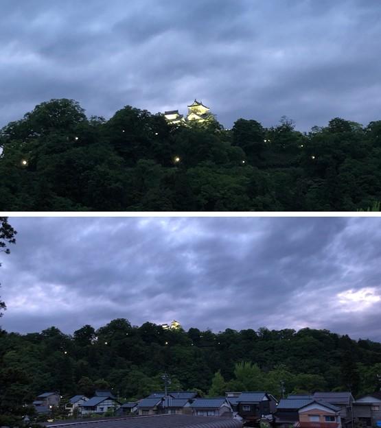 Photos: 城下町に佇む名水の宿 扇屋(大野市)より大野城