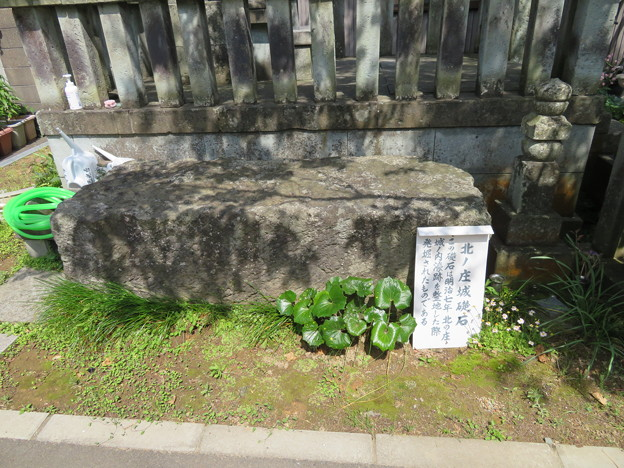 西光寺(福井市)北ノ庄城礎石