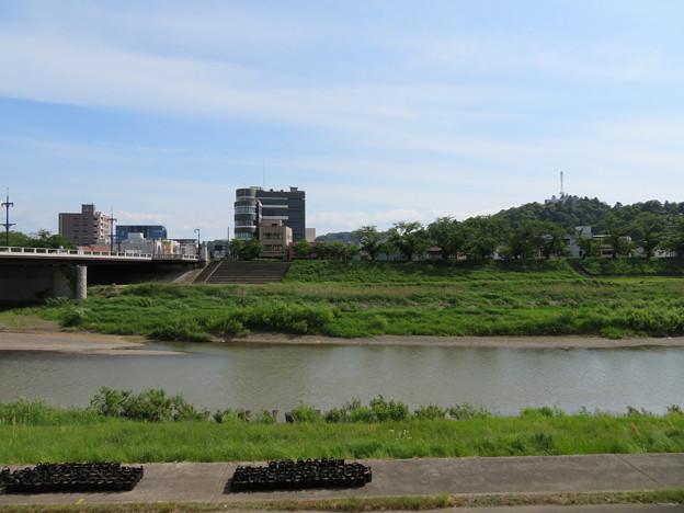 横井小楠寄留宅跡(福井市)対岸(河底)、由利公正宅跡