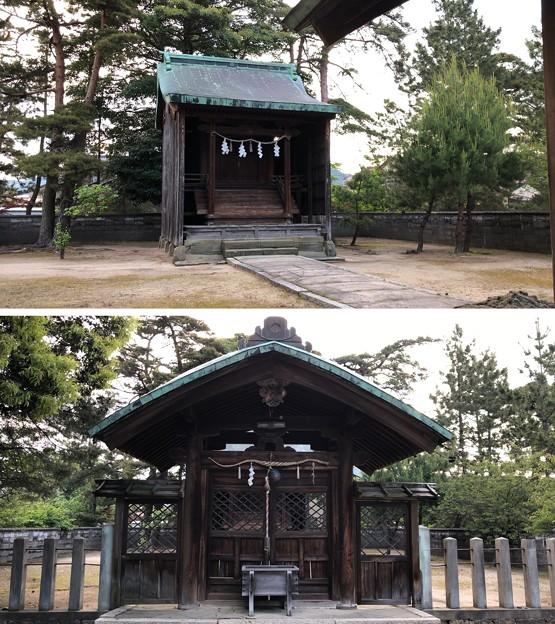 Photos: 松原神社(敦賀市)中門・本殿