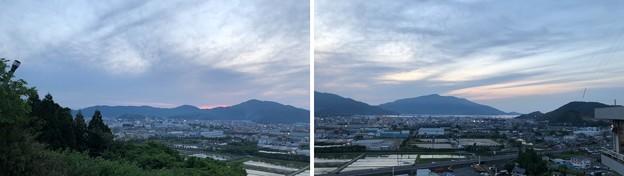 敦賀トンネル温泉 北国グランドホテル(敦賀市)駐車場より