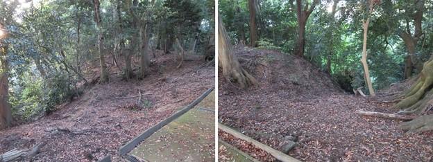 金ヶ崎城(敦賀市)三の木戸跡・水の手