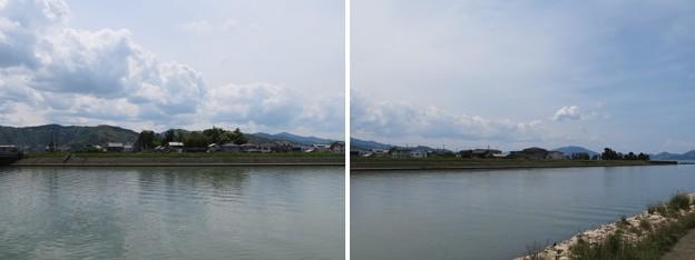 小浜城(福井県小浜市城内)北川より