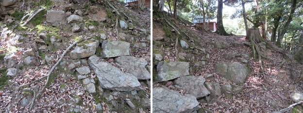 Photos: 愛宕神社/後瀬山城(小浜市)本郭搦手?虎口