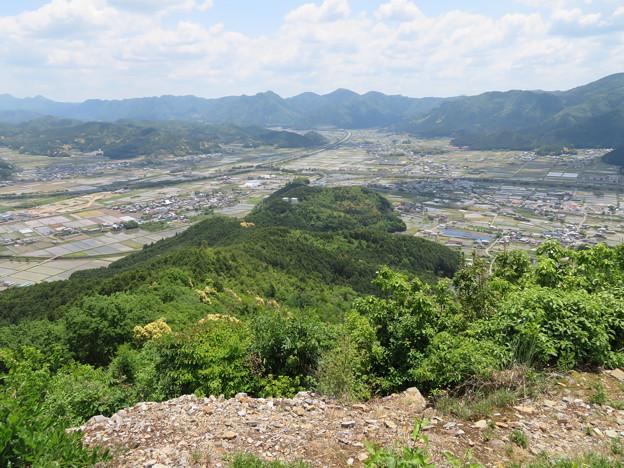 黒井城(兵庫県丹波市)先端、的場砦