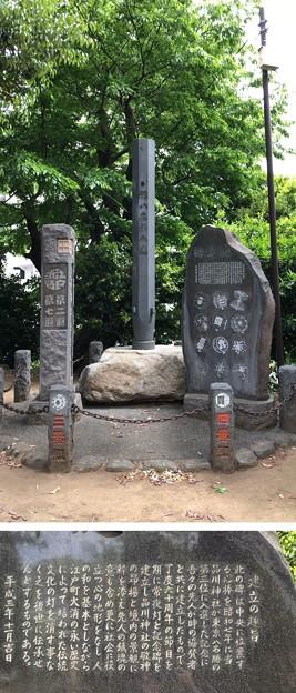 品川神社(品川区北品川)木遣碑