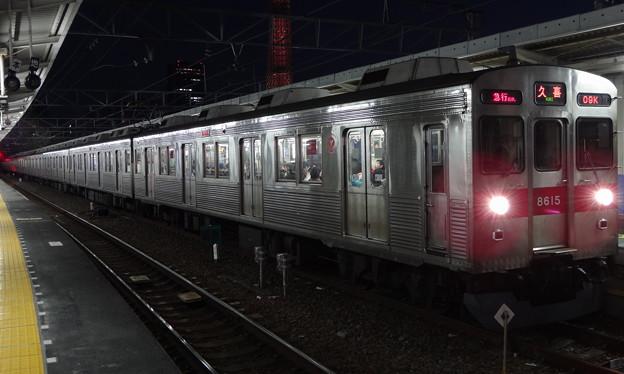 東急電鉄8500系による東武スカイツリーライン急行(報知杯弥生賞の帰り)
