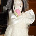 ウェディングドレス(ローズリエール)を着たREINA