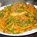 青椒肉絲(ピーマンと肉の細切り炒め)