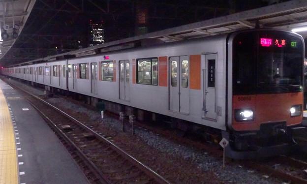 東武スカイツリーライン50050系(山岸舞彩氏誕生日の曳舟駅にて)