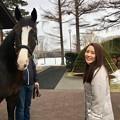写真: 守永真彩とイスラボニータ