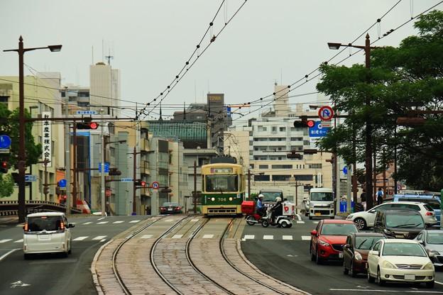 路面電車のある景色
