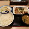 松屋 和風 タルタルチキン定食 ご飯大盛りダヨーン(  ̄▽ ̄)