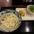Photos: 丸亀製麺 ぶっかけうどん(半額)&鶏天