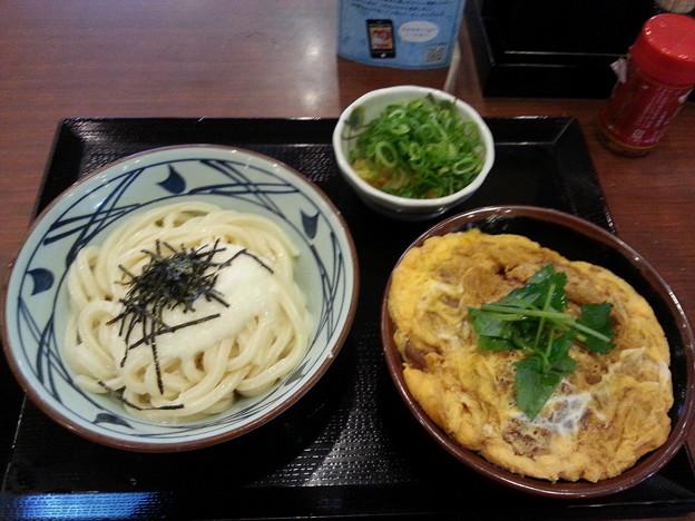 丸亀製麺 とろろ醤油うどん&カツ丼(小)