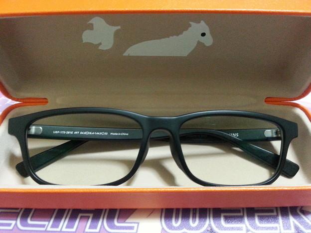 新しいメガネ ブルーライトカット
