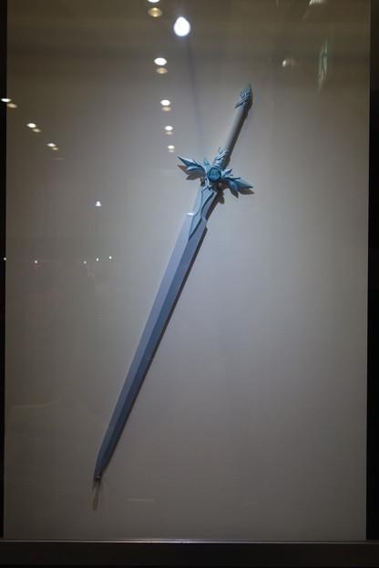 実物大の青薔薇の剣 大きいな