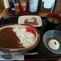 Photos: 山田うどん かかしカレー 杏仁豆腐 無料クーポン唐揚げ