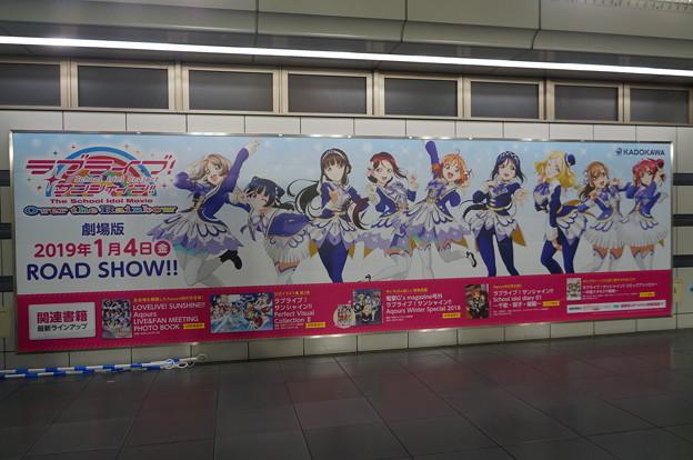コミケ95 国際展示場 劇場版 ラブライブ!サンシャイン!! 大型壁面広告