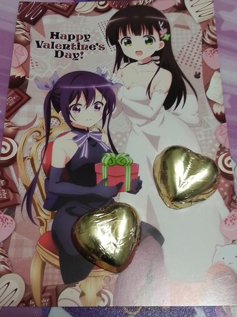 ご注文はうさぎですか??  リゼちゃん 千夜ちゃん バレンタインカード