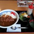 Photos: 山田うどん かつカレー ご飯大盛りサラダセット