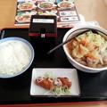 山田うどん 野菜うどん ライス から揚げ