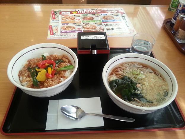 山田うどん 日替わり スタカレー丼セット